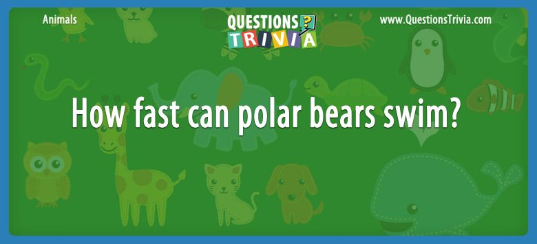 Animals Trivia Questions can polar bears swim