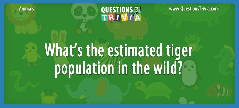 Animals Trivia Questions tiger population