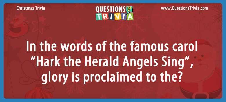 Christmas Trivia Questions Card Hark the Herald Angels Sing