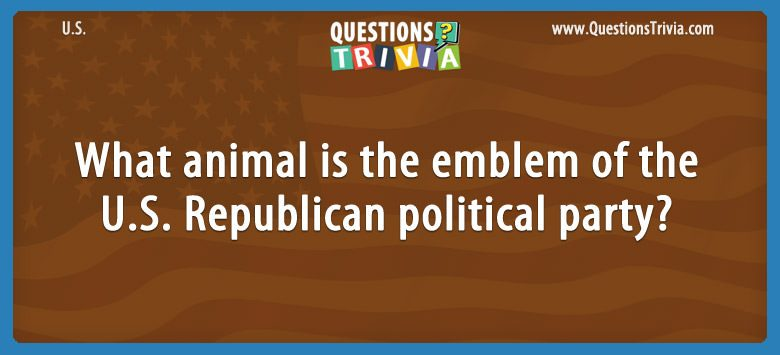 What animal is the emblem of the u.s. republican political party?