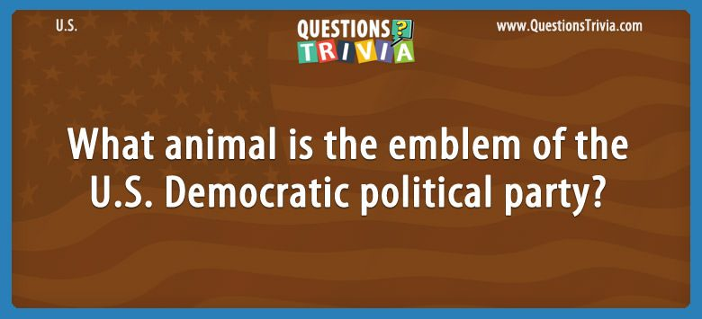 What animal is the emblem of the u.s. democratic political party?