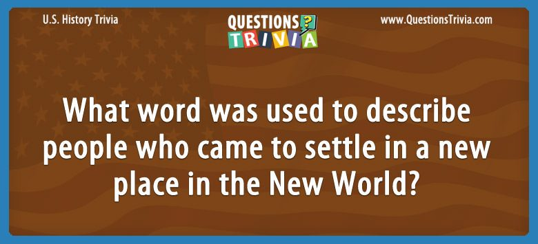 History Trivia Questions new world