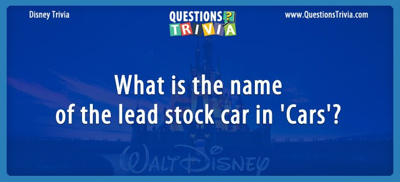 What is the name of the lead stock car in 'cars'?