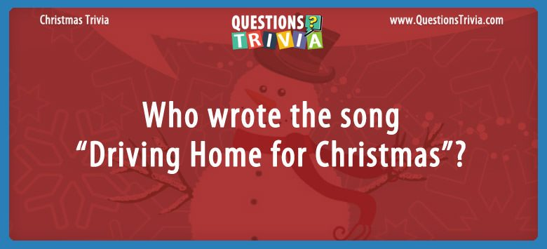 "Who wrote the song ""driving home for christmas""?"