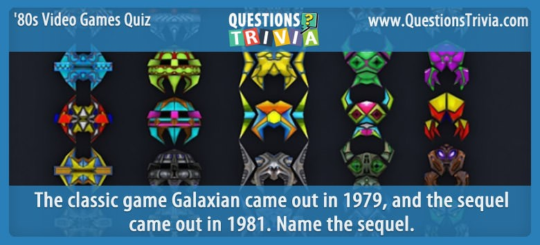 1980s Video Games Quiz Galaga