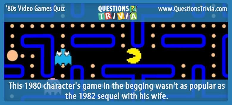 1980s Video Games Quiz Pac Man