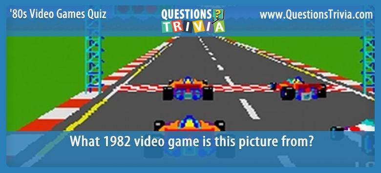 1980s Video Games Quiz Pole Position