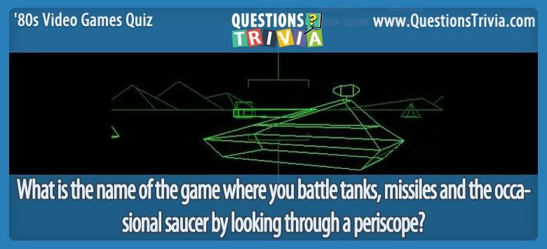80s Video Games Quiz Battlezone