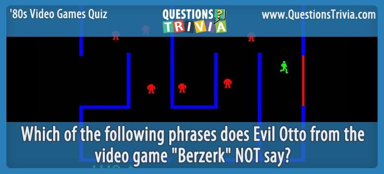 80s Video Games Quiz Berzerk