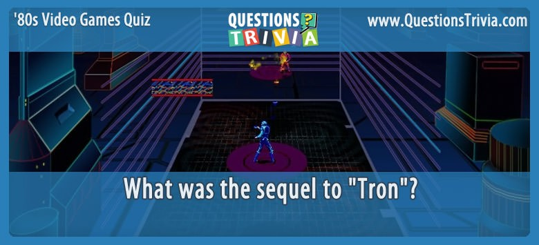 80s Video Games Quiz Discs of Tron