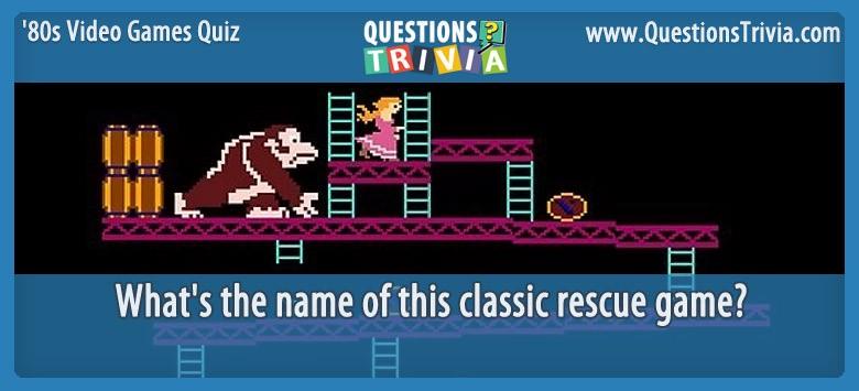 80s Video Games Quiz Donkey Kong