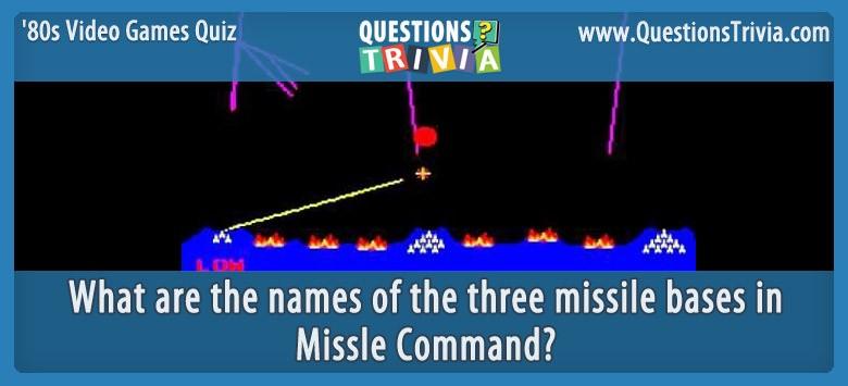 80s Video Games Quiz Missle Command