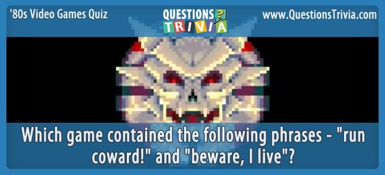 80s Video Games Quiz Sinistar