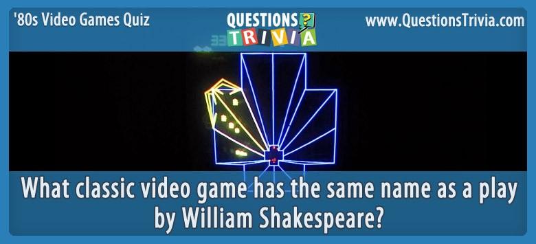 80s Video Games Quiz Tempest