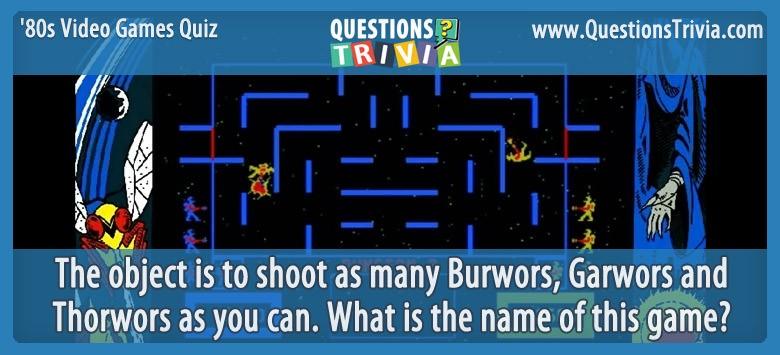 80s Video Games Quiz Wizard of Wor