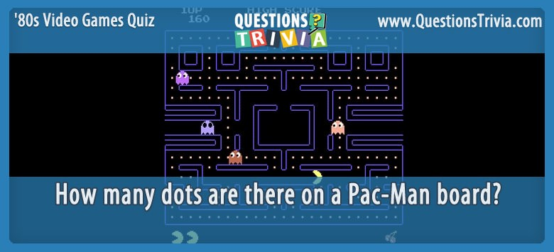 80s Video Games Quiz pac man dots