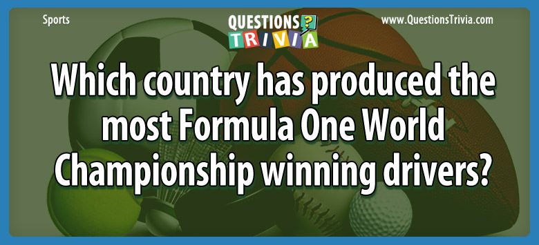 Which country has produced the most formula one world championship winning drivers?