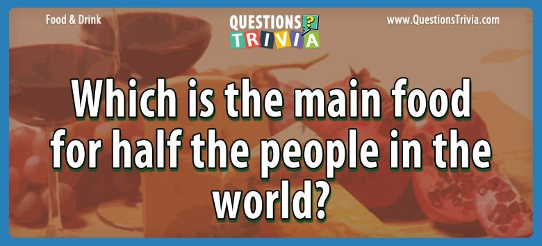 Food and Drink Trivia Questions and Quizzes