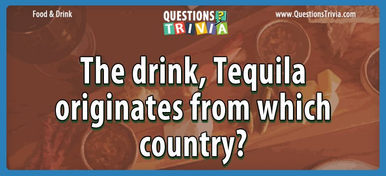 Food and Drink Trivia Questions and Quizzes - QuestionsTrivia com