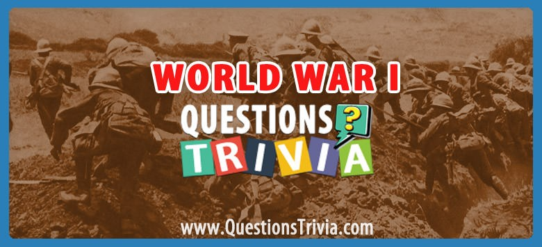 World War I Trivia Category