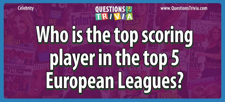 Who is the top scoring player in the top 5 european leagues?