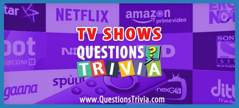 TV Shows Trivia Category