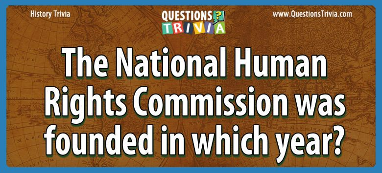History Trivia national human rights founded year