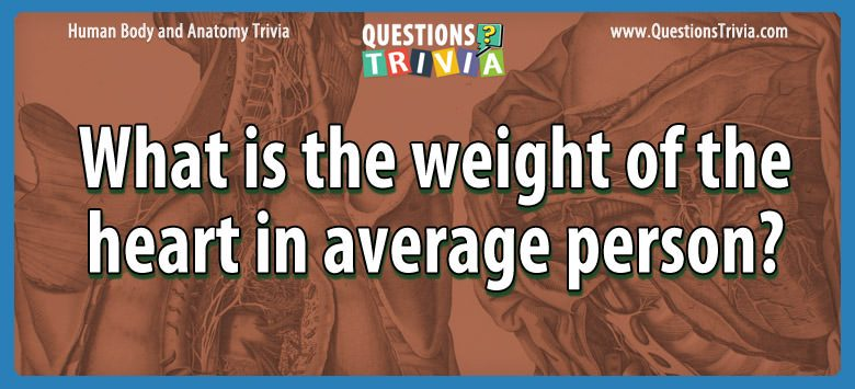 Body Trivia weight heart average person