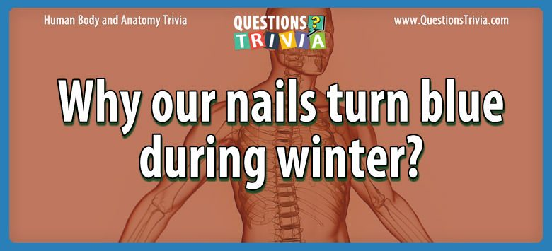 Body Trivia nails turn blue winter