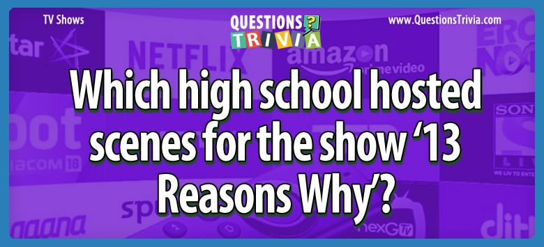 high school hosted 13 Reasons Why