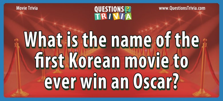 What is the name of the first korean movie to ever win an oscar?