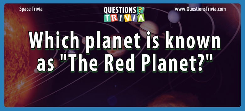 the red planet trivia