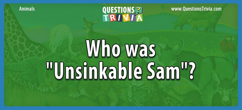 "Who was ""unsinkable sam""?"