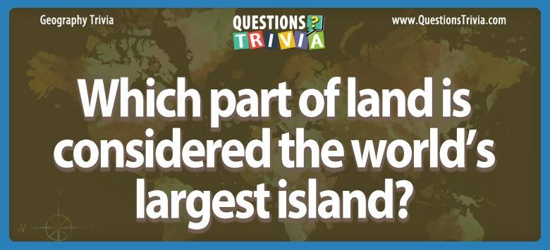 World's largest island